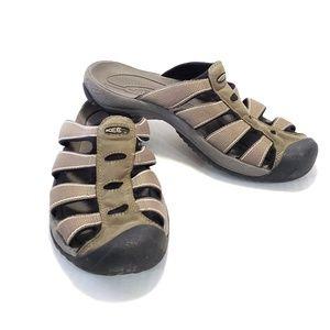 11 Keen Men's Water Hiking Slide Sandal Slip On